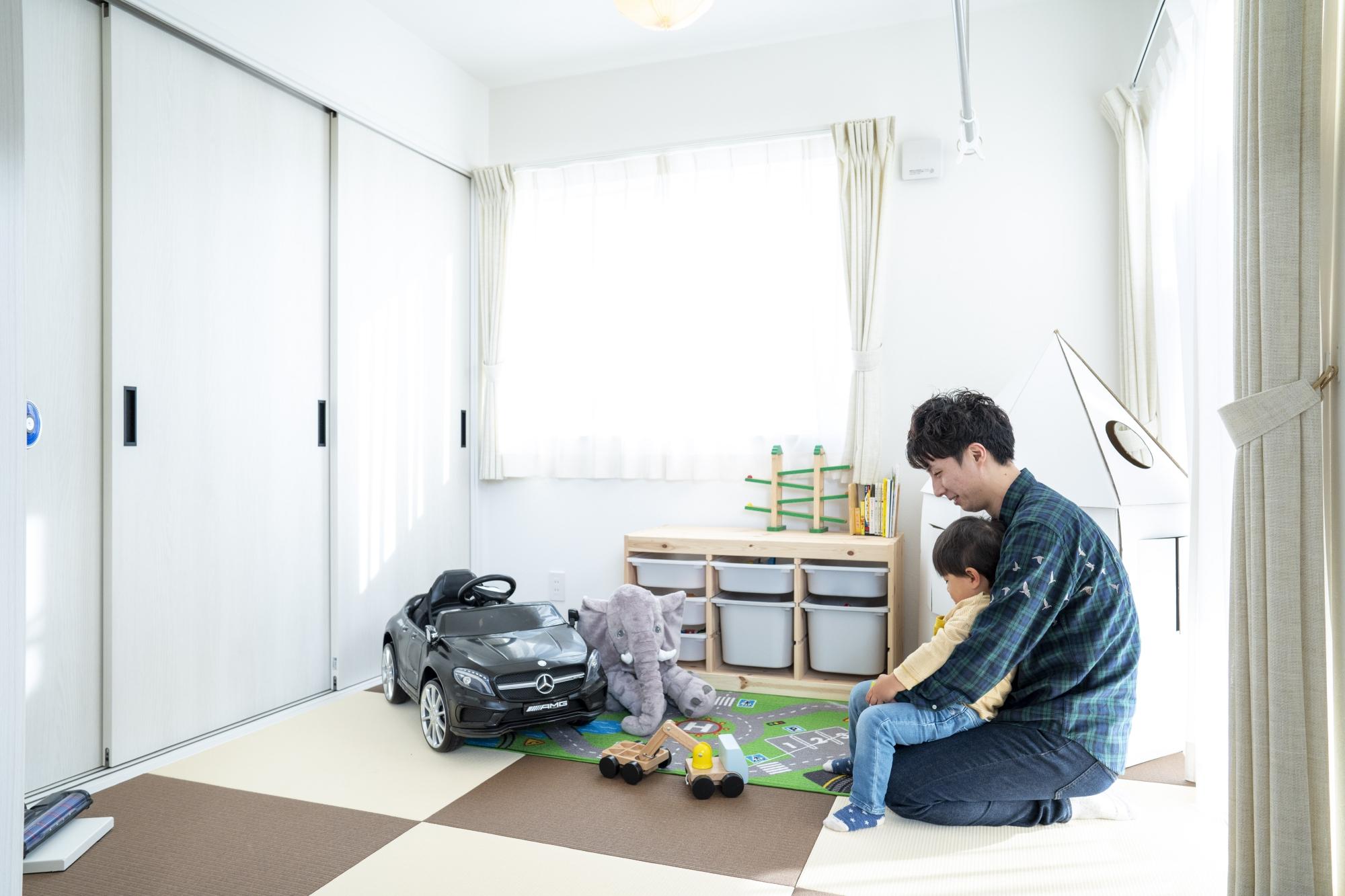 和室は子どもの遊び場として
